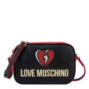 Borsa Donna a Tracolla LOVE MOSCHINO linea Glitter Heart Nero