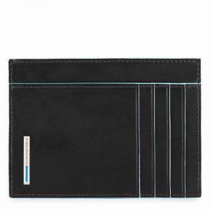 Porta Carte PIQUADRO In Pelle Nera - PP3892B2 Linea Blue Square