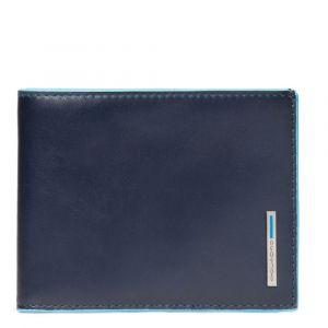 Portafoglio Uomo Piquadro In Pelle Blu - PU1241B2R linea Blue Square