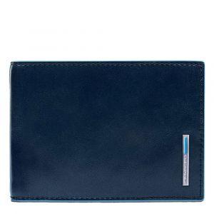 Portafoglio con Pattina Piquadro In Pelle Blu - PU1392B2R linea Blue Square