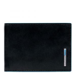 Portafoglio con Pattina Piquadro In Pelle Nero - PU1392B2R linea Blue Square