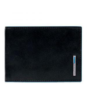 Portafoglio Uomo Nero Portacarte PIQUADRO - PU1307B2 Blue Square