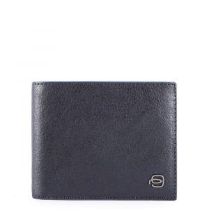Portafoglio Uomo Piquadro In Pelle Blu con Pattina e Portamonete - PU4518B2SR linea Blue Square Special