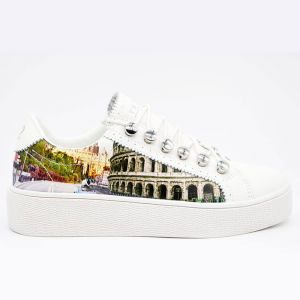 Scarpe Donna Y Not Sneakers Stampa Roma Aurelia Linea Yes