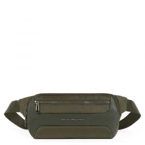 Marsupio PIQUADRO in Tessuto e Pelle Verde Militare linea Macbeth CA5310S115
