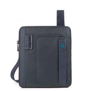 Borsello a Tracolla con Porta iPad®Air/Air2 - PIQUADRO Pulse CA1358P16 in Tessuto Chevron - Blu
