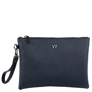 Pochette Donna in Pelle Saffiano Y NOT SAF-742 Blue