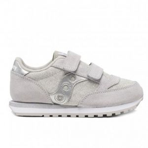 Scarpe Bambina Saucony Sneakers Jazz Double HL Kids Silver Metallic
