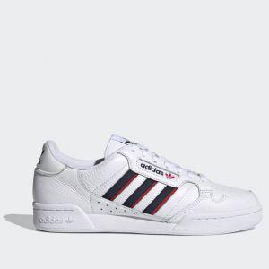 Scarpe Uomo ADIDAS Sneakers linea Continental 80 Stripes Bianco Blu Navy e Rosso