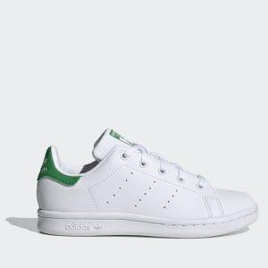 Scarpe Bambino ADIDAS Sneakers Vegan linea Stan Smith C colore Bianco e Verde