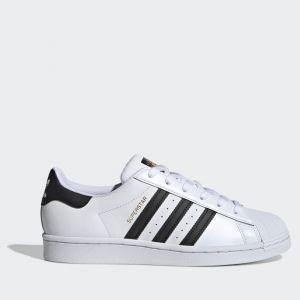 Scarpe Donna ADIDAS Sneakers linea Superstar W in Pelle colore Bianco e Nero
