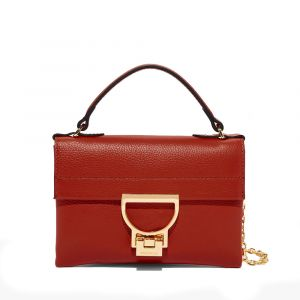 Borsa Donna a Mano COCCINELLE in Pelle Linea Arlettis Mini colore Foliage Red