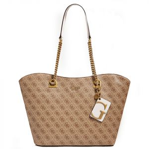 Borsa Donna a Spalla GUESS linea Mika colore Brown Multi