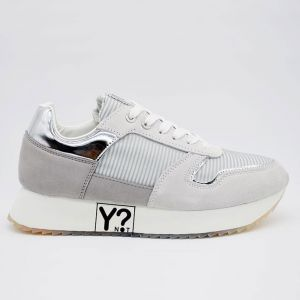 Scarpe Donna Y Not Sneakers Colore Silver Linea Holliwood
