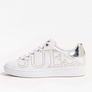 Scarpe Donna GUESS Sneakers Bianche con Borchie Linea Razz