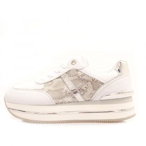 Scarpe Donna GUESS Sneakers Bianche Linea Dafnee Stampa Pitone