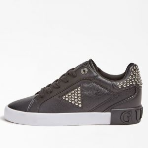 Scarpe Donna GUESS Sneakers Nere Linea Paysin con Zeppa Interna