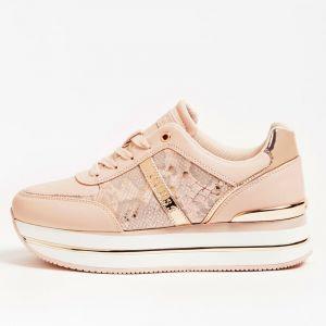 Scarpe Donna GUESS Sneakers Rosa Linea Dafnee Stampa Pitone