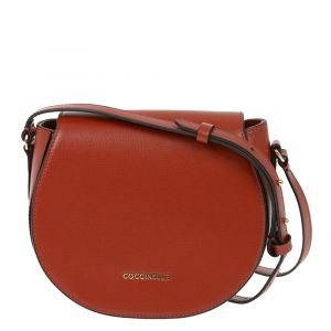 Borsa Donna a Tracolla COCCINELLE in Pelle Linea Sortie Textured colore Foliage Red