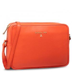 Borsa Donna a Tracolla PATRIZIA PEPE in Pelle colore Hibiscus Red 2V8985