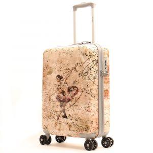 Trolley Medio Y Not Ballet Rose - Valigia 66 cm Rigida 4 Ruote 3,5 kg