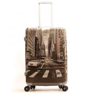 Trolley Medio Y Not New York Street Style - Valigia 66 cm Rigida 4 Ruote 3,5 kg