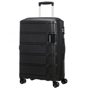 Trolley Medio 67cm 4 Ruote 3,2kg - American Tourister Summer Splash Nero