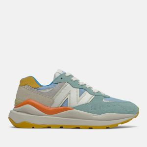 Scarpe Donna NEW BALANCE Sneakers 5740 in Suede e Mesh colore Oyster Pink e Blue Chill