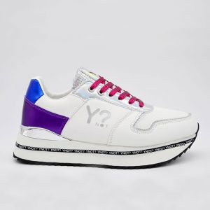 Scarpe Donna Y Not Sneakers Colore White - Fuxia - Royal Linea Hollywood
