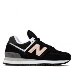 Scarpe Donna NEW BALANCE Sneakers 574 in Suede e Mesh colore Nero