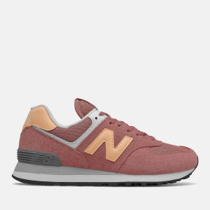 Scarpe Donna NEW BALANCE Sneakers 574 in Suede e Mesh colore Astral glow e Washed Henna
