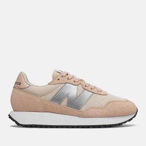 Scarpe Donna NEW BALANCE Sneakers 237 in Suede e Nylon colore Rose Water e Silver Metallic