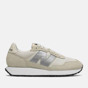 Scarpe Donna NEW BALANCE Sneakers 237 in Suede e Nylon colore Sea Salt e Silver Metallic