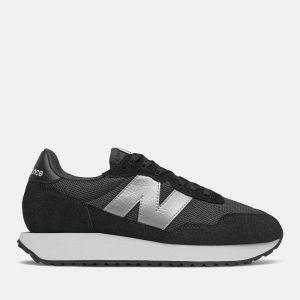 Scarpe Donna NEW BALANCE Sneakers 237 in Suede e Nylon colore Black e Silver Metallic