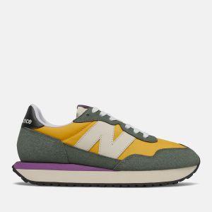 Scarpe Donna NEW BALANCE Sneakers 237 in Suede Mesh e Nylon colore Team Gold