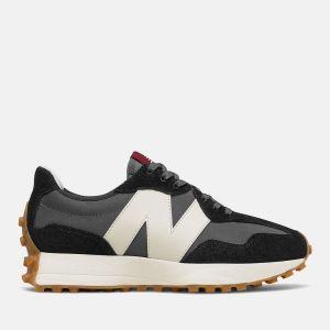 Scarpe Donna NEW BALANCE Sneakers 327 in Suede e Nylon colore Black