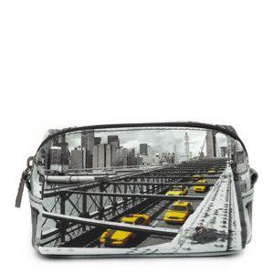 Beauty Medio con Zip Y NOT stampa New York Brooklyn Bridge YES-302