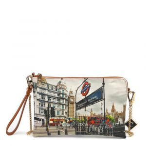 Borsa Donna Y NOT Pochette con Tracolla YES-303 London Westminster Tube