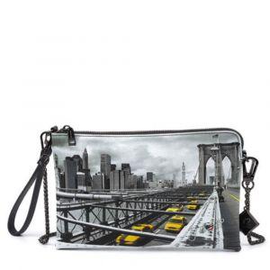 Borsa Donna Y NOT Pochette con Tracolla YES-303 New York Brooklyn Bridge