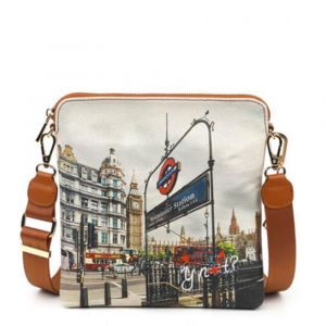 Borsa Donna Y NOT Bandoliera a Tracolla YES-314 London Westminster Tube
