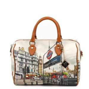 Borsa Donna Y NOT Bauletto Medio con Tracolla YES-318 London Westminster Tube