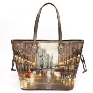 Borsa Donna Y NOT Shopping Grande a Spalla YES-319 Milano Gallery