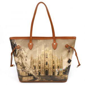 Borsa Donna Y NOT Shopping Grande a Spalla YES-319 Milano Lion