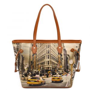 Borsa Donna Y NOT Shopping Grande a Spalla YES-319 New York Fifth Avenue