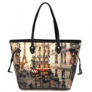 Borsa Donna Y NOT Shopping Grande a Spalla YES-319 Paris Boheme