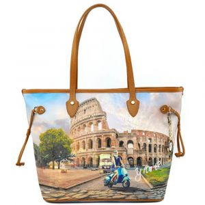 Borsa Donna Y NOT Shopping Grande a Spalla YES-319 Rome Vita