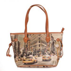 Borsa Donna Y NOT Shopping Media a Spalla YES-336 New York Fifth Avenue