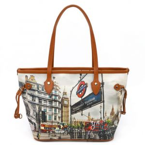 Borsa Donna Y NOT Shopping Media a Spalla YES-336 London Westminster Tube