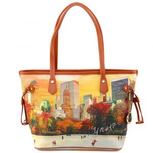 Borsa Donna Y NOT Shopping Media a Spalla YES-336 New York Central Park