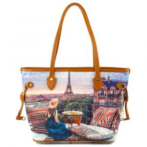 Borsa Donna Y NOT Shopping Media a Spalla YES-336 Paris View
